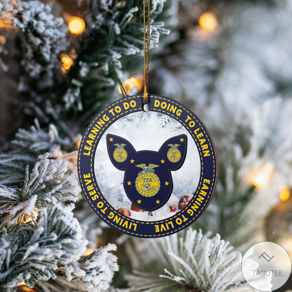Awesome Pig Learning To Do Doing To Learn Ffa Logo Ornament