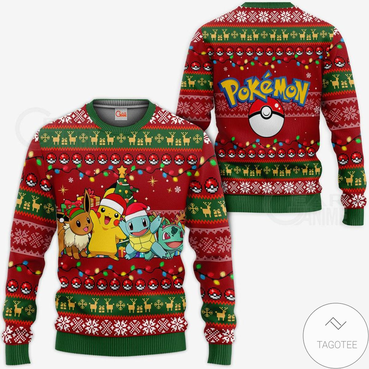 Great Pokemon Anime Ugly Christmas Sweater