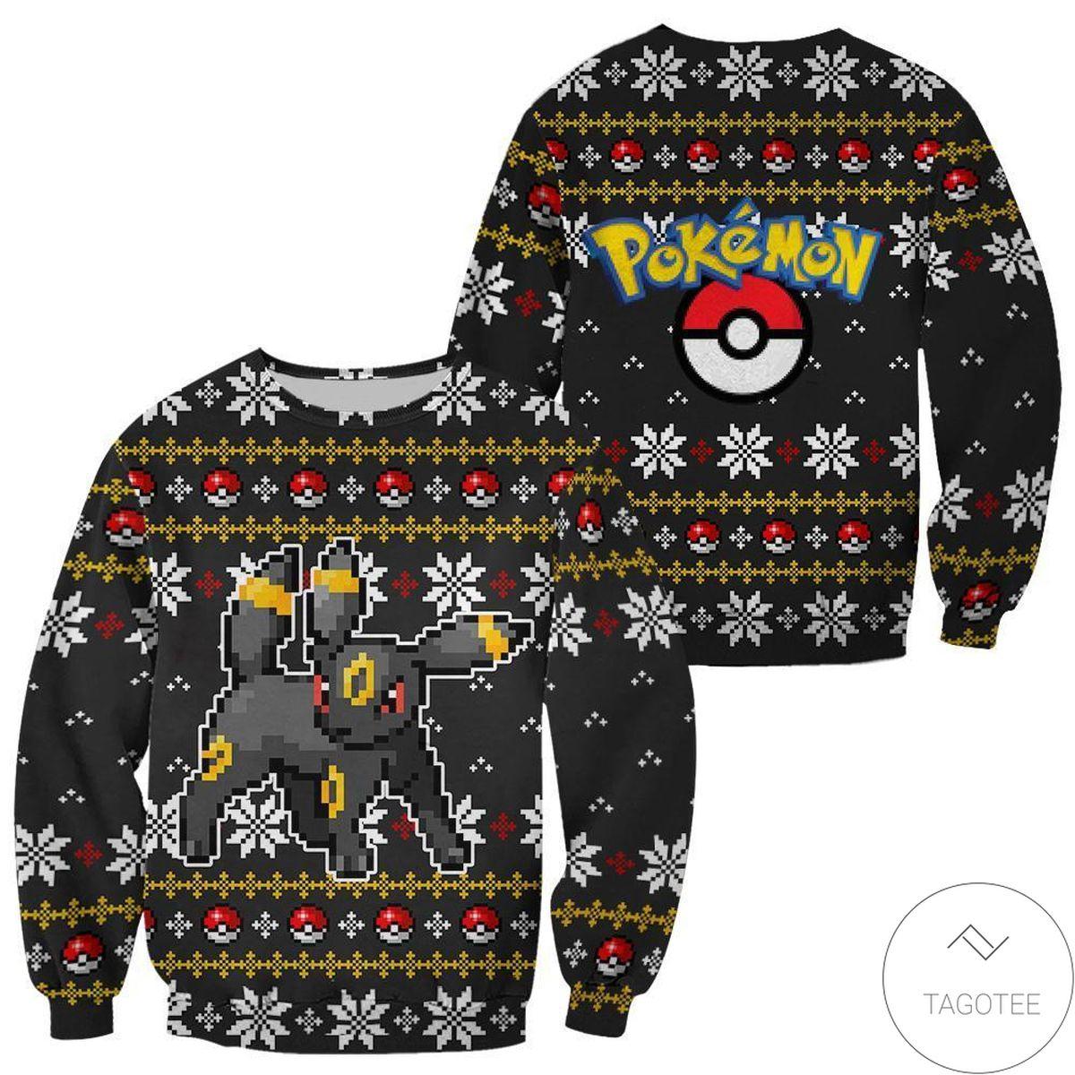 Fast Shipping Pokemon Umbreon Ugly Christmas Sweater