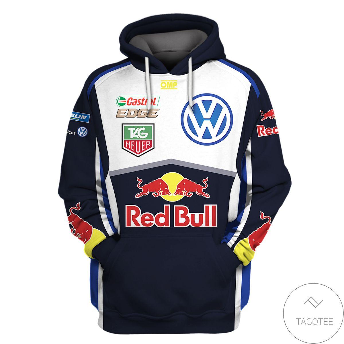 eBay Rallying Volkswagen Red Bull Branded Unisex Racing Car 3d Hoodie
