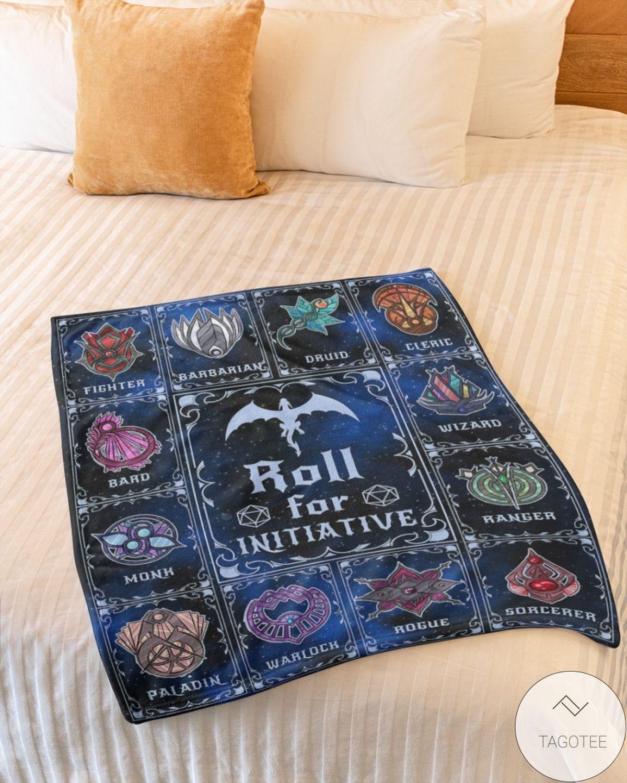 Adult Roll For Initiative Fleece Blanket