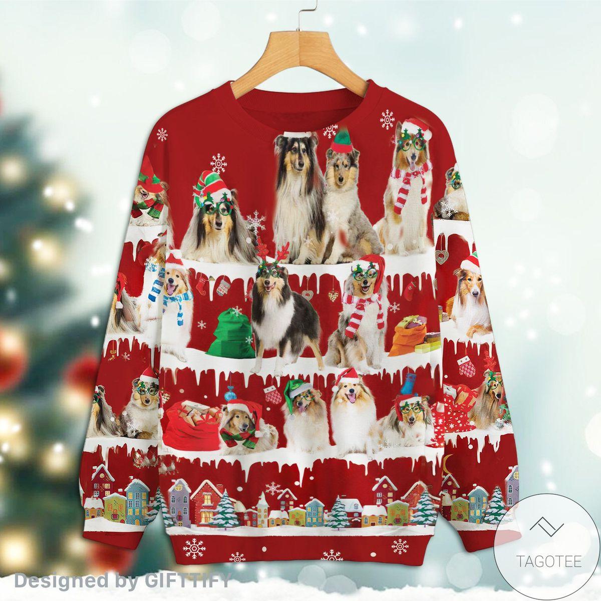 Rating Rough Collie Snow Christmas Premium Sweatshirt
