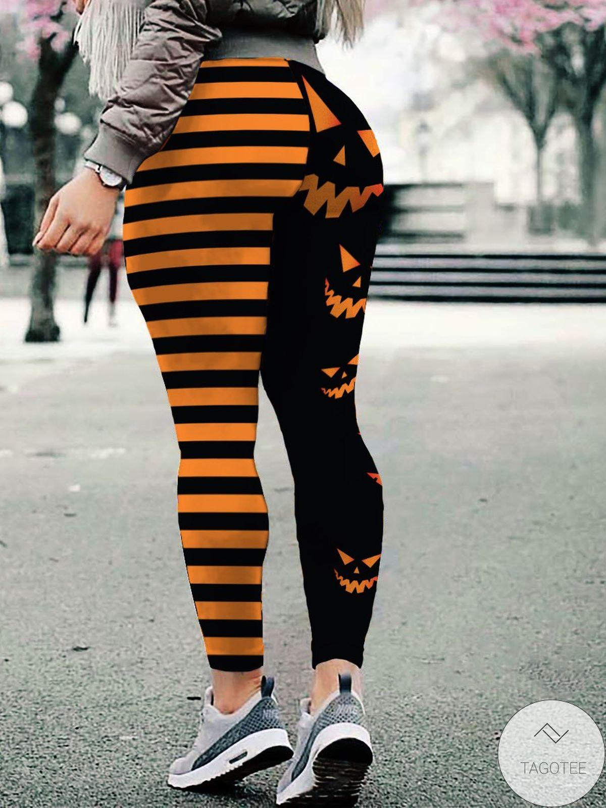 Scary Pumpkin Halloween Women Leggings