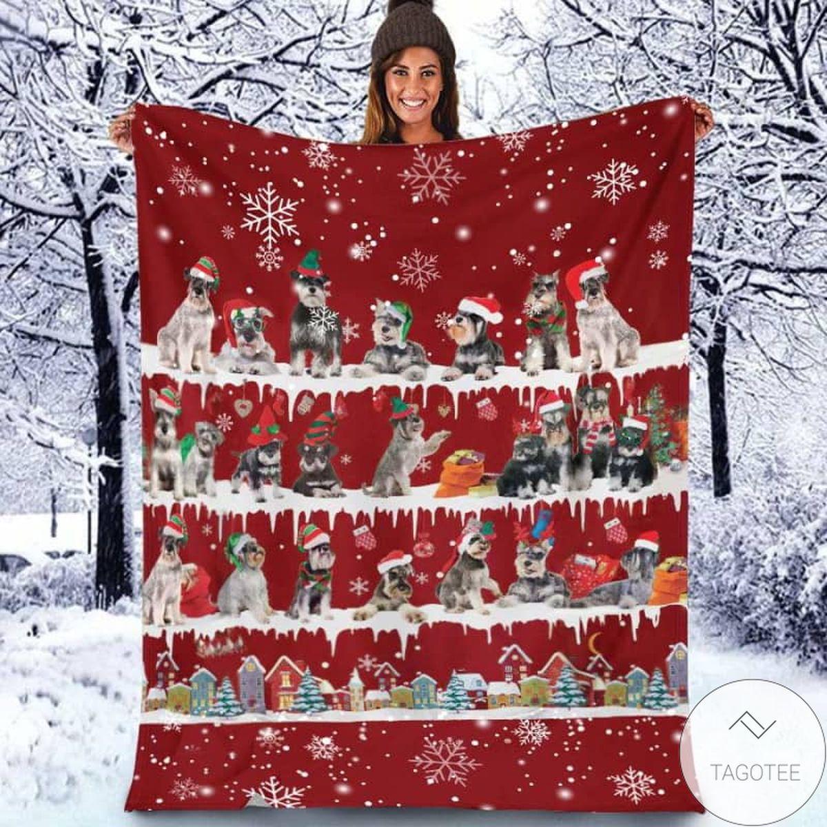 Schnauzer - Christmas Blanket