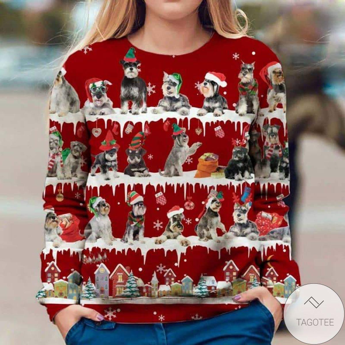 Schnauzer Snow Christmas Premium Sweatshirt