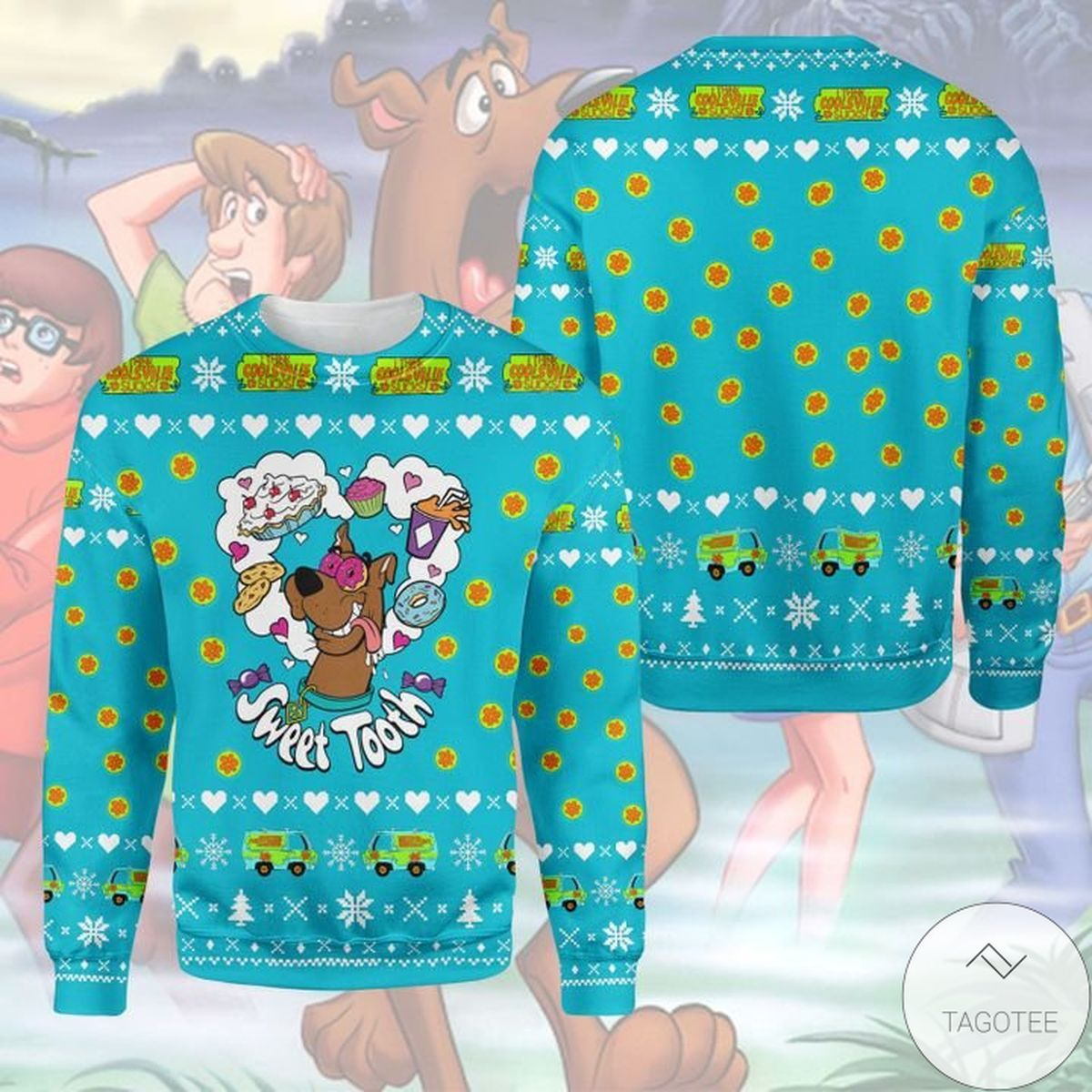 Scooby Doo Sweet Tooth Ugly Christmas Sweater