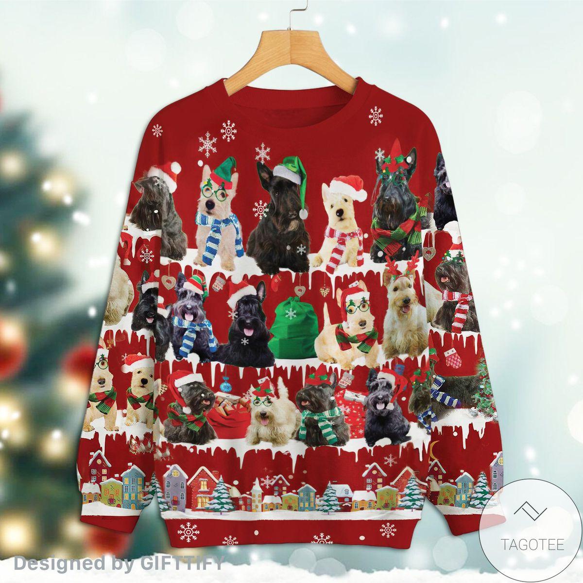 Scottish Terrier Snow Christmas Premium Sweatshirt