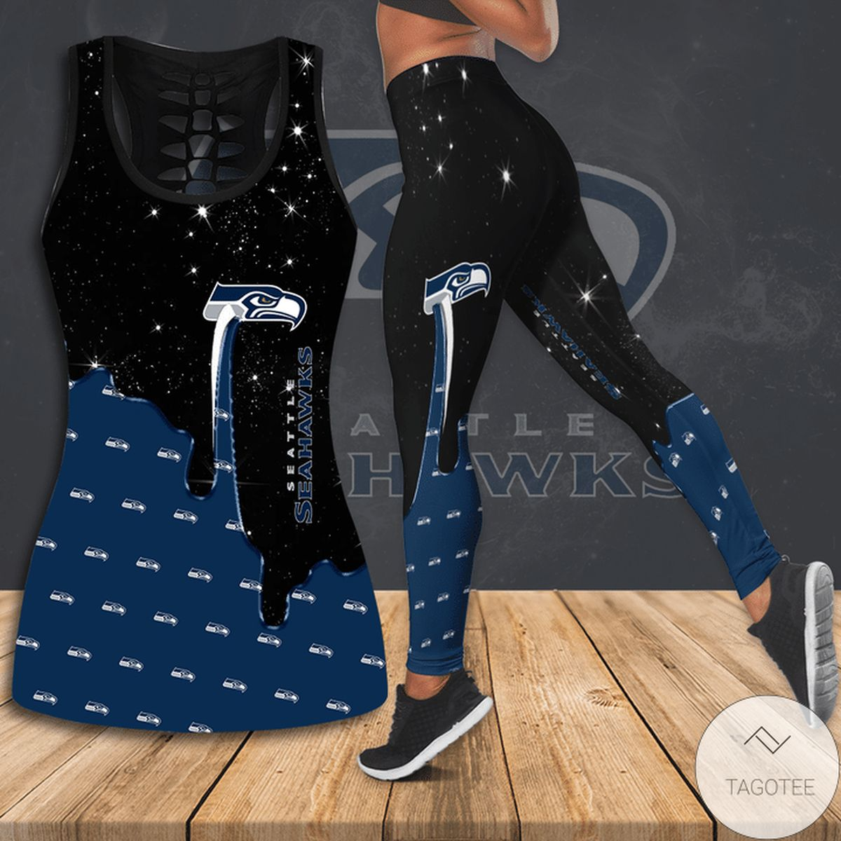 Seattle Seahawks Hallow Tank Top And Leggings