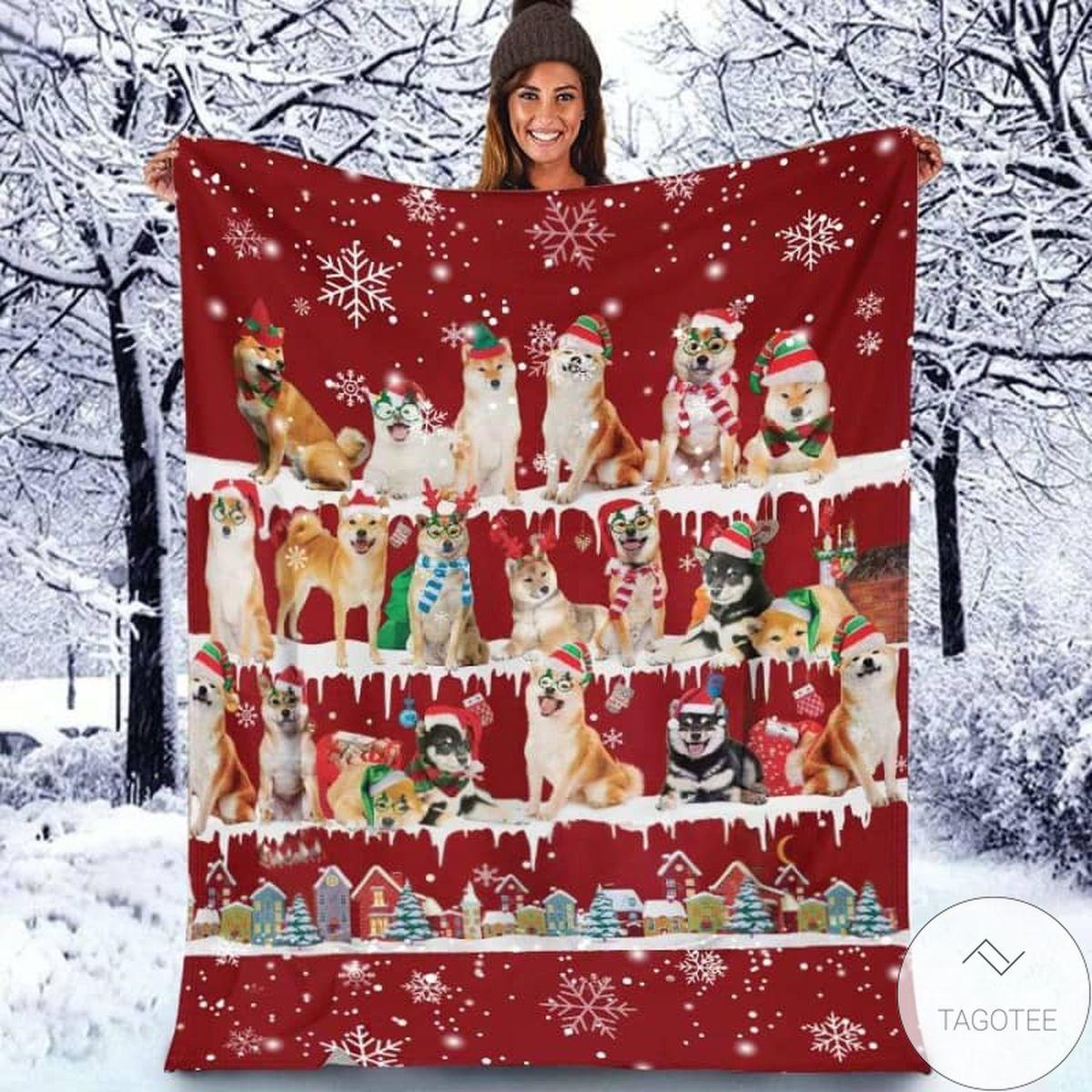 Shiba Inu - Christmas Blanket