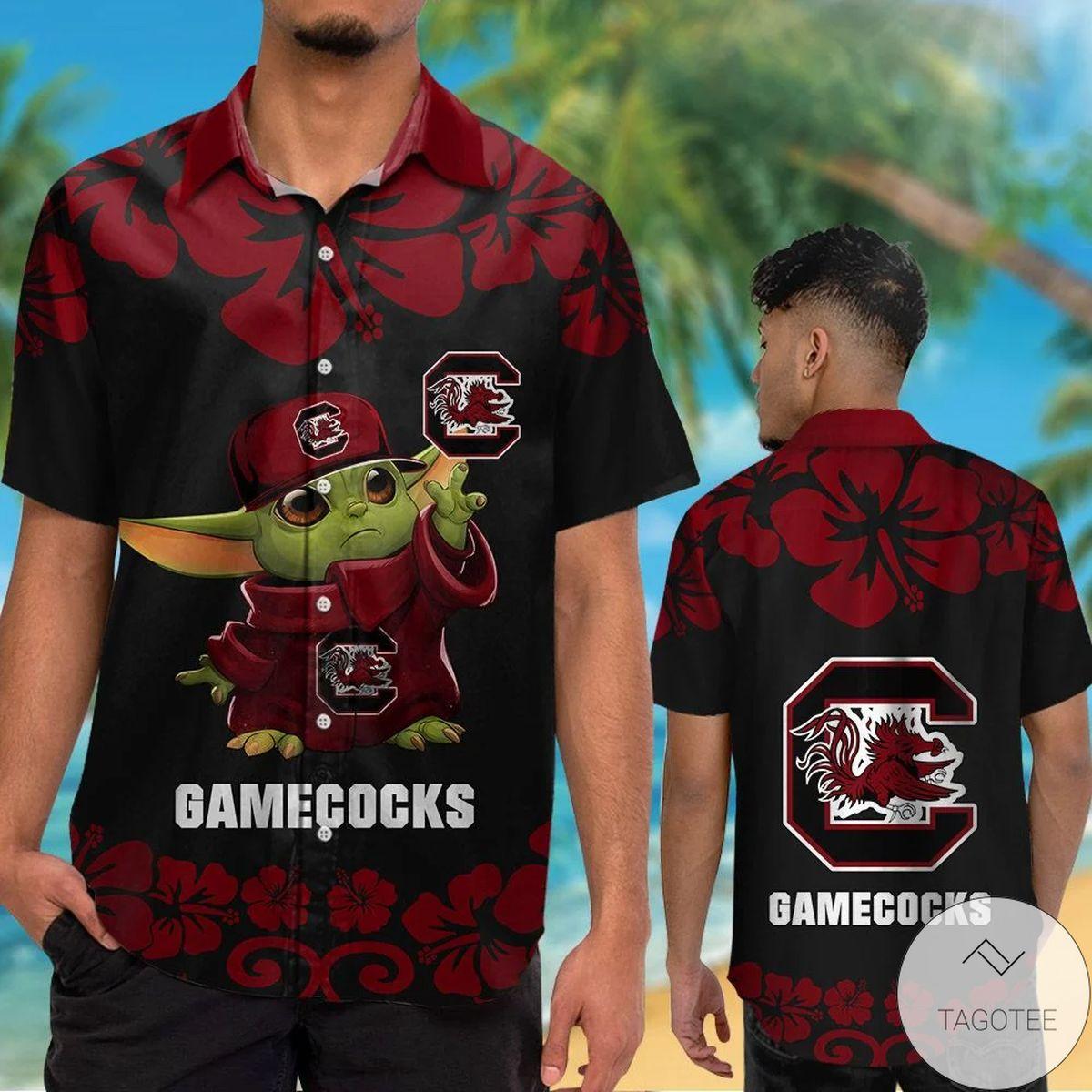 South Carolina Gamecocks Baby Yoda Hawaiian Shirt
