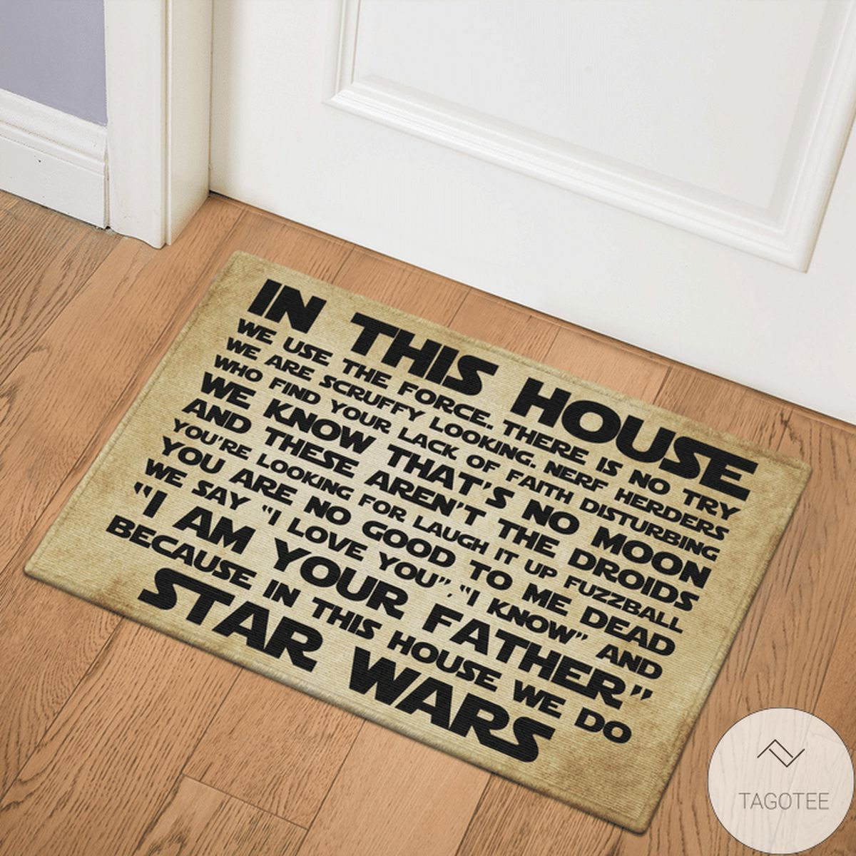 Star Wars In This House We Use The Force Doormat