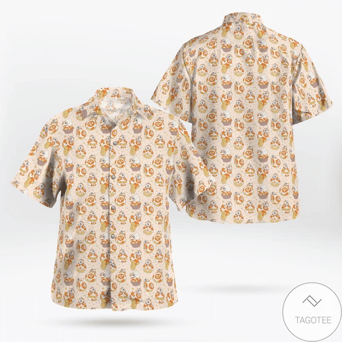 Star Wars Mini Pattern Printed Hawaiian Shirt