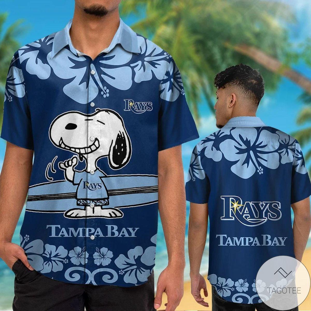 Tampa Bay Rays Snoopy Hawaiian Shirt