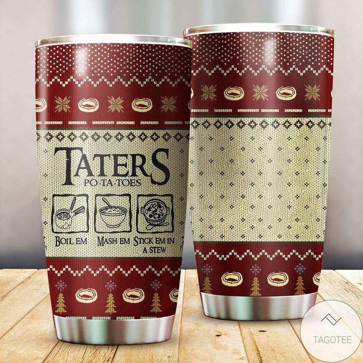 New Taters Potatoes Christmas Tumbler