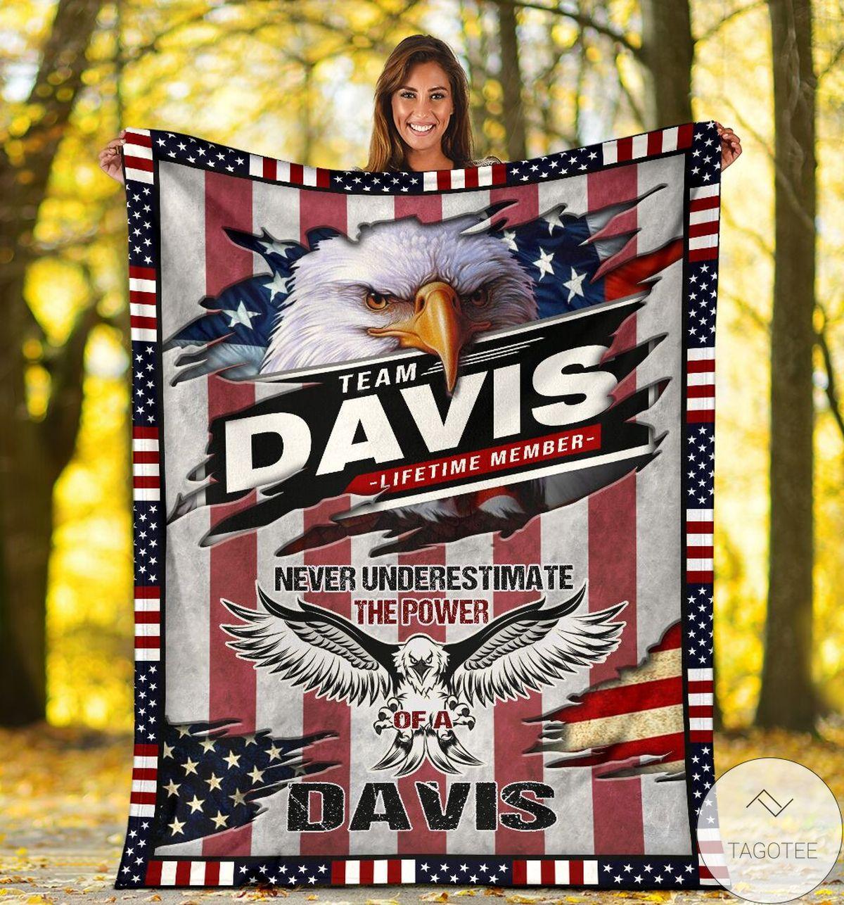 Team Davis Lifetime Member Blanket