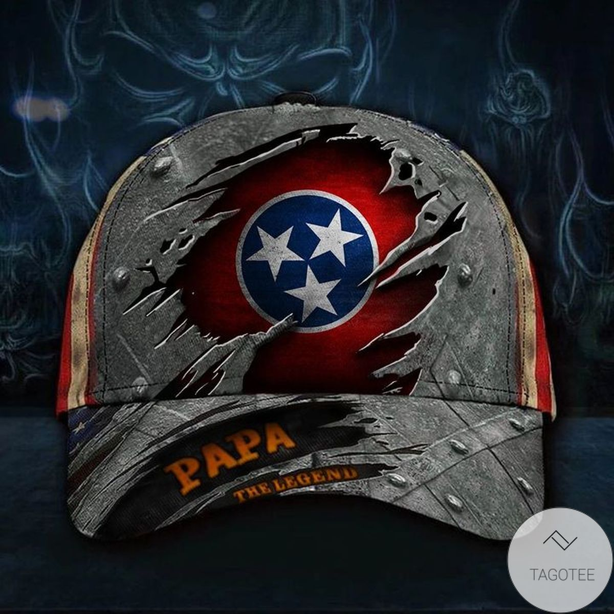 Tennessee Papa The Legend 3D Hat Vintage USA Flag Cap Dad Father's Day Gift For Expecting Dad