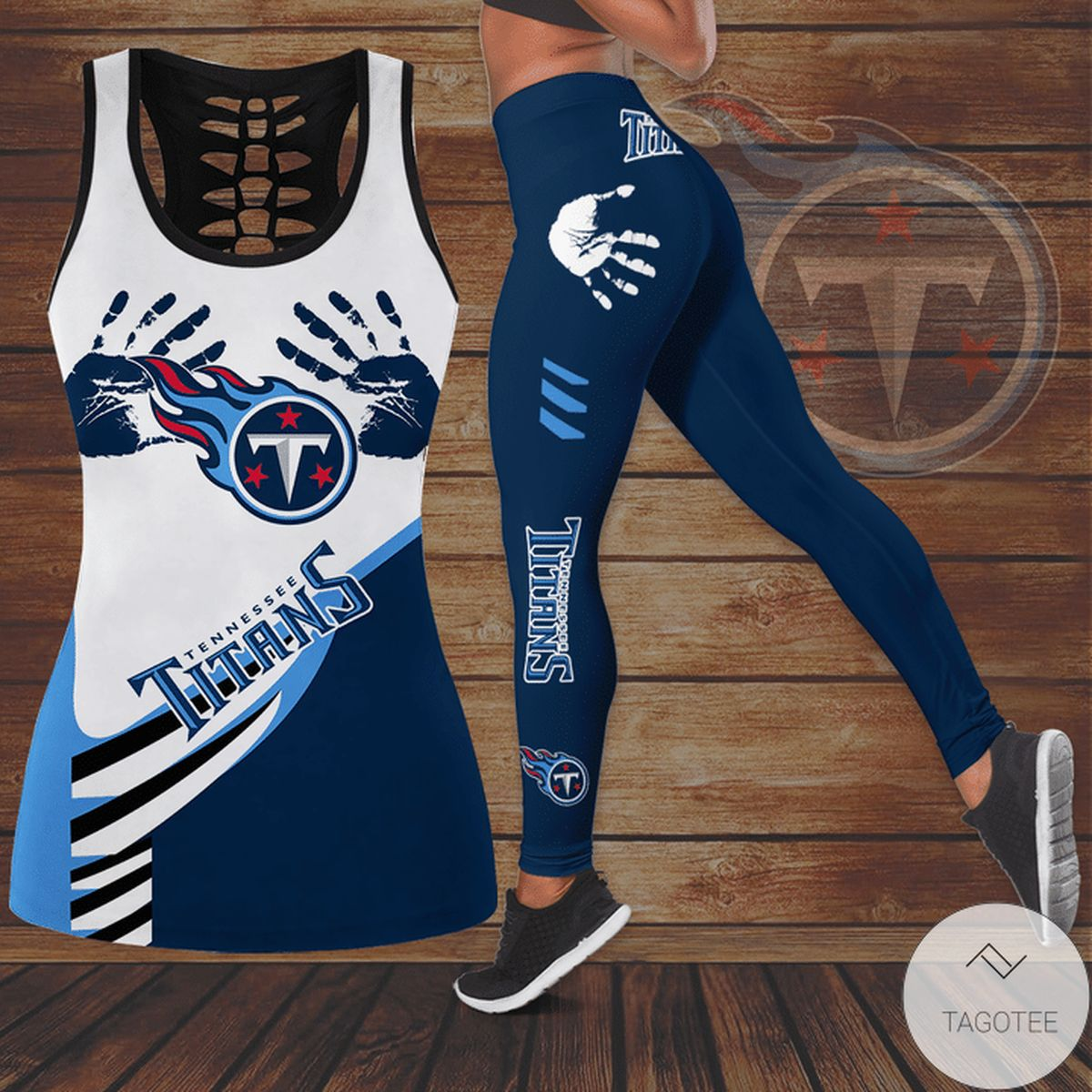 Vibrant Tennessee Titans Hallow Tank Top And Leggings