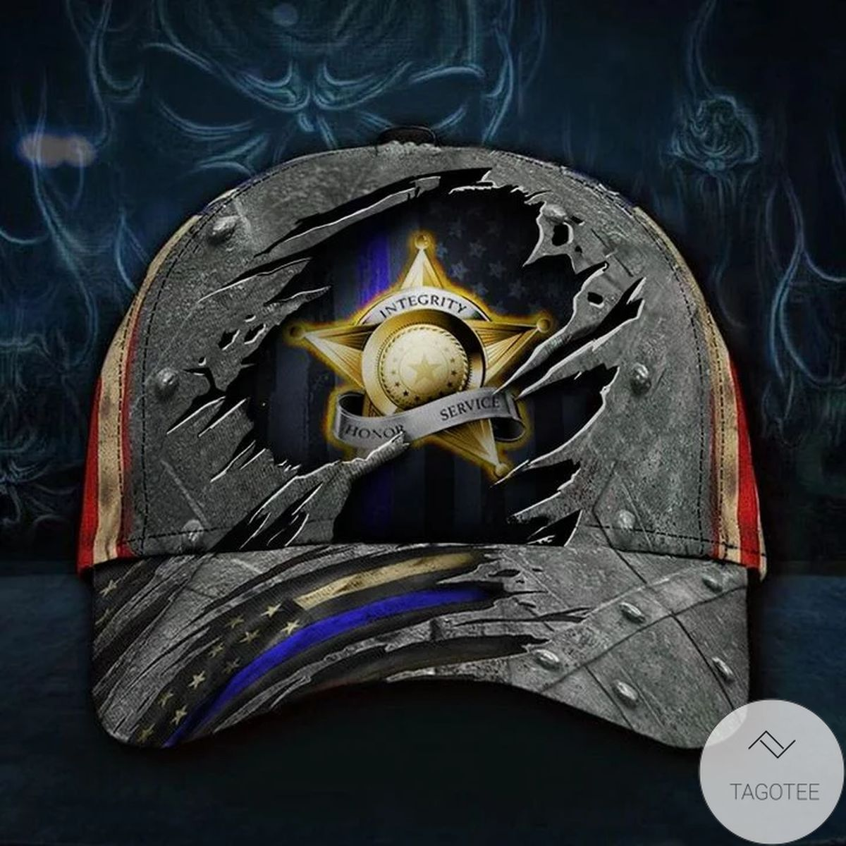 Thin Blue Line Hat Integrity Honor Service American Flag Cap Honor Our Police Law Enforcement