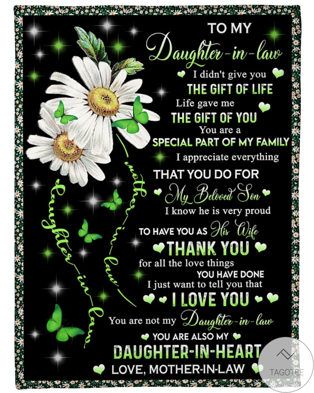 Rating To My Daughter In Law I Didn't Give You The Gift Of Life Fleece Blanket