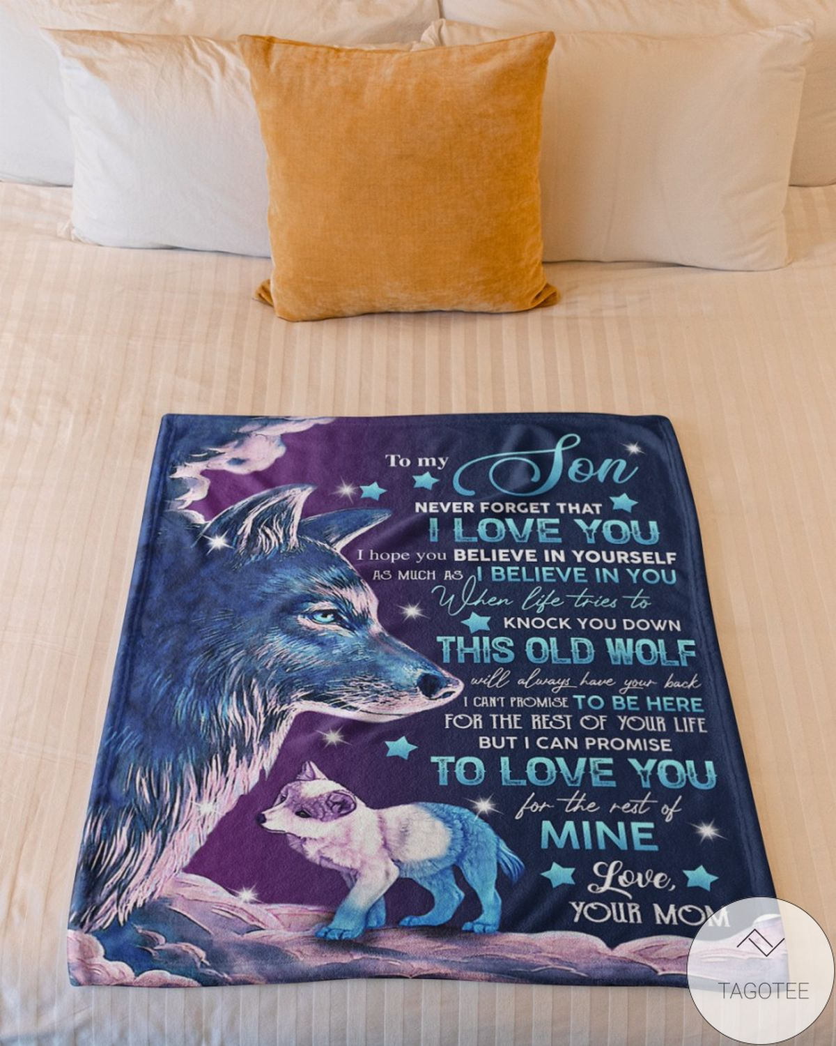 Discount To My Son  Never Forget I Love You Wolf Blanket