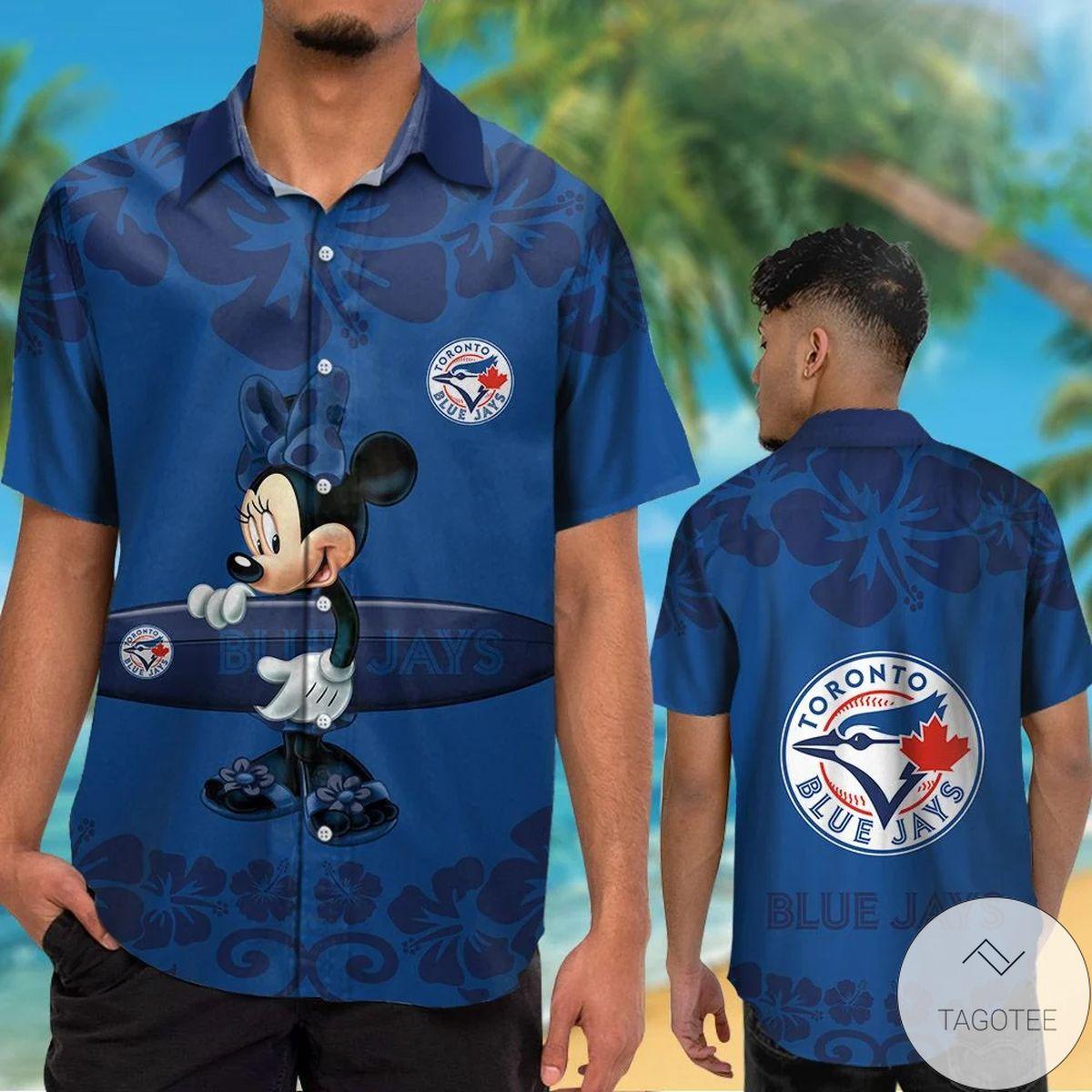 Toronto Blue Jays Minnie Mouse Hawaiian Shirt