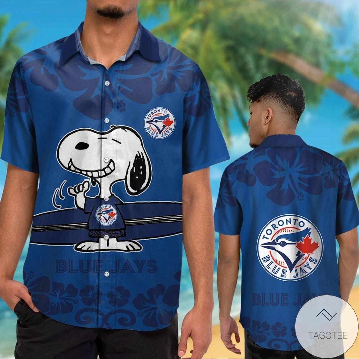 Toronto Blue Jays Snoopy Hawaiian Shirt