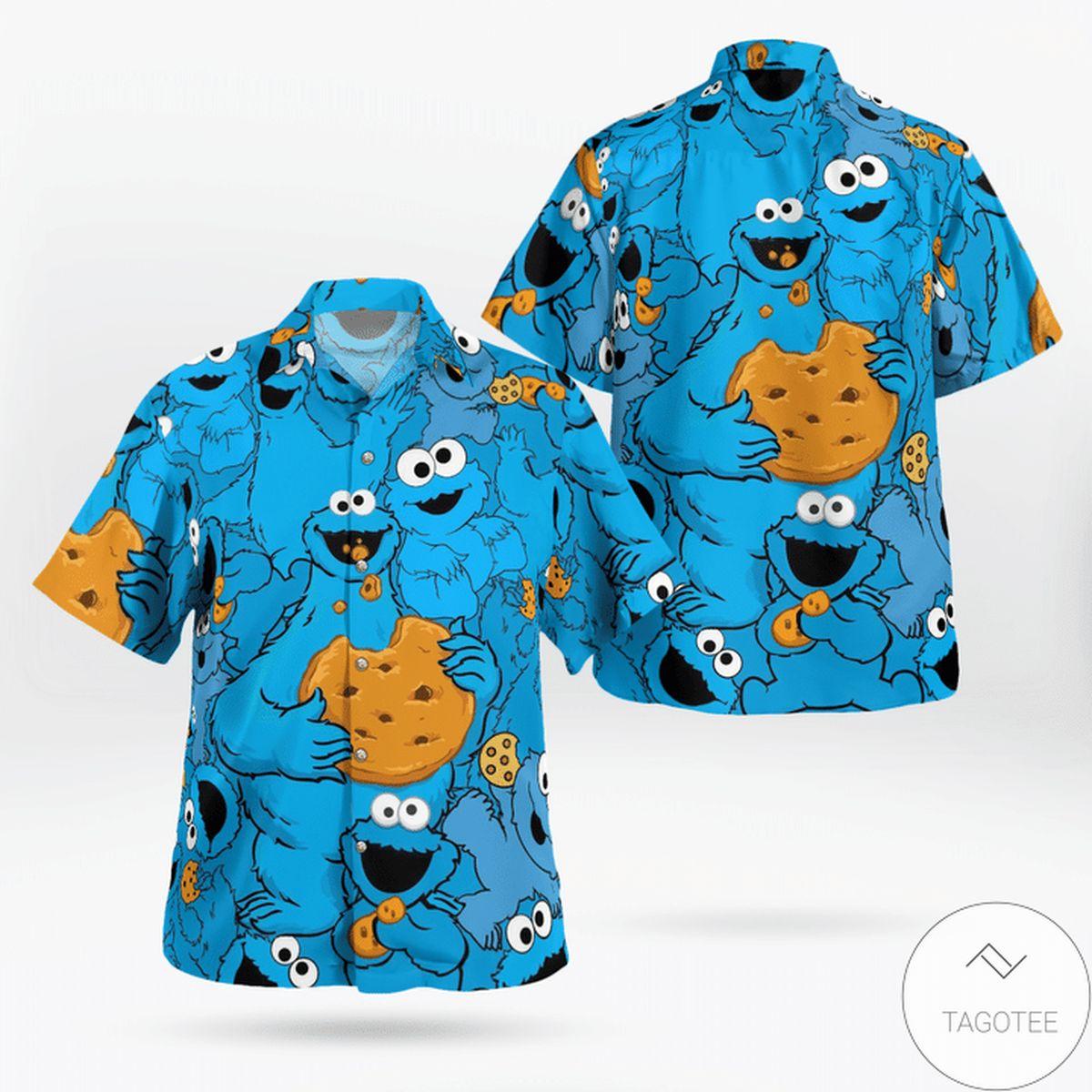 Tropical Cookie Monster Hawaiian Shirt