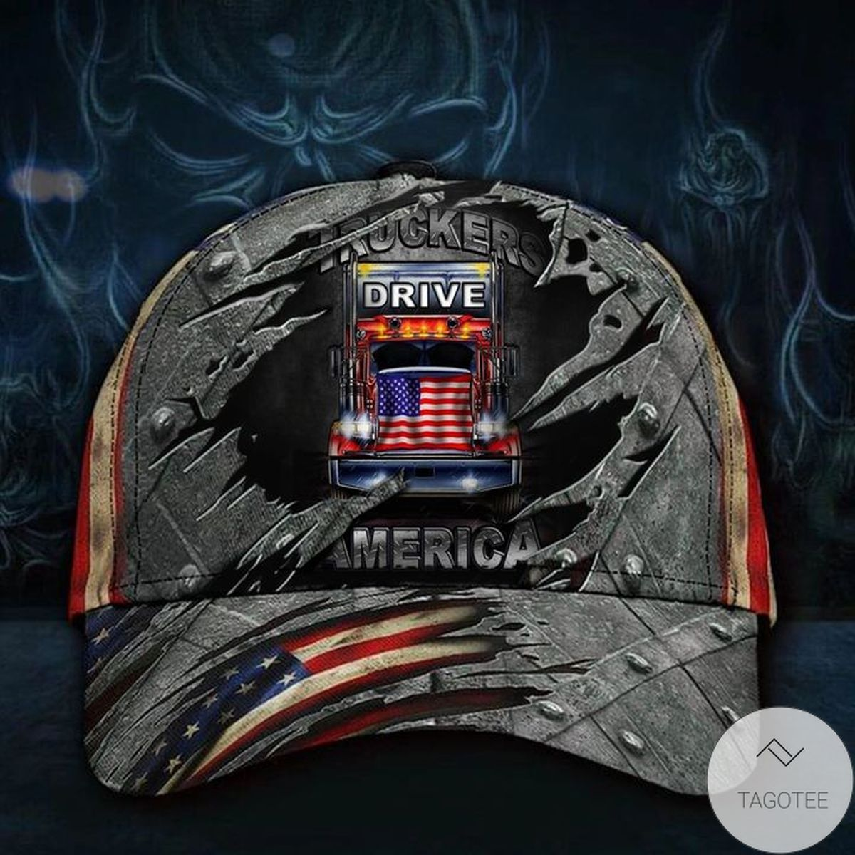 Adorable Truckers Drive America Hat 3D Printed Vintage Men's Cap For Truck Driver Father's Day Gift Idea