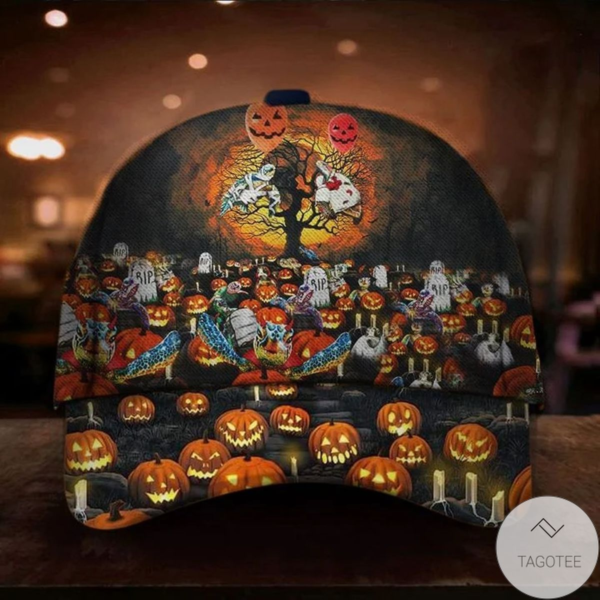 Turtle Pumpkin Halloween Hat Unique Halloween Merchandise Themed Gift For Adults