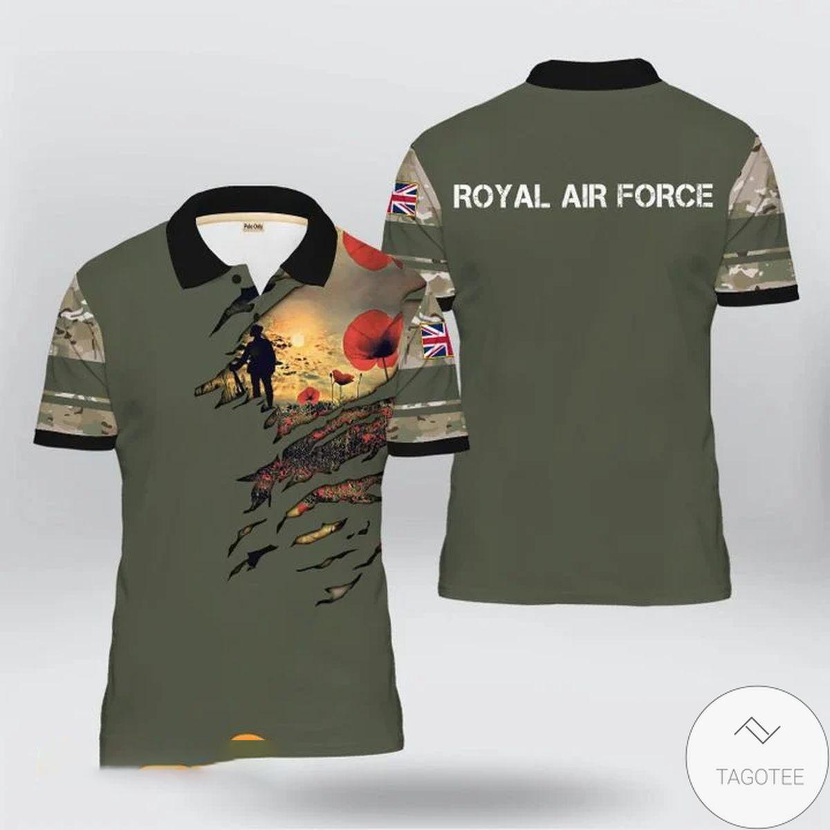 Uk Veteran Royal Air Force Polo Shirt