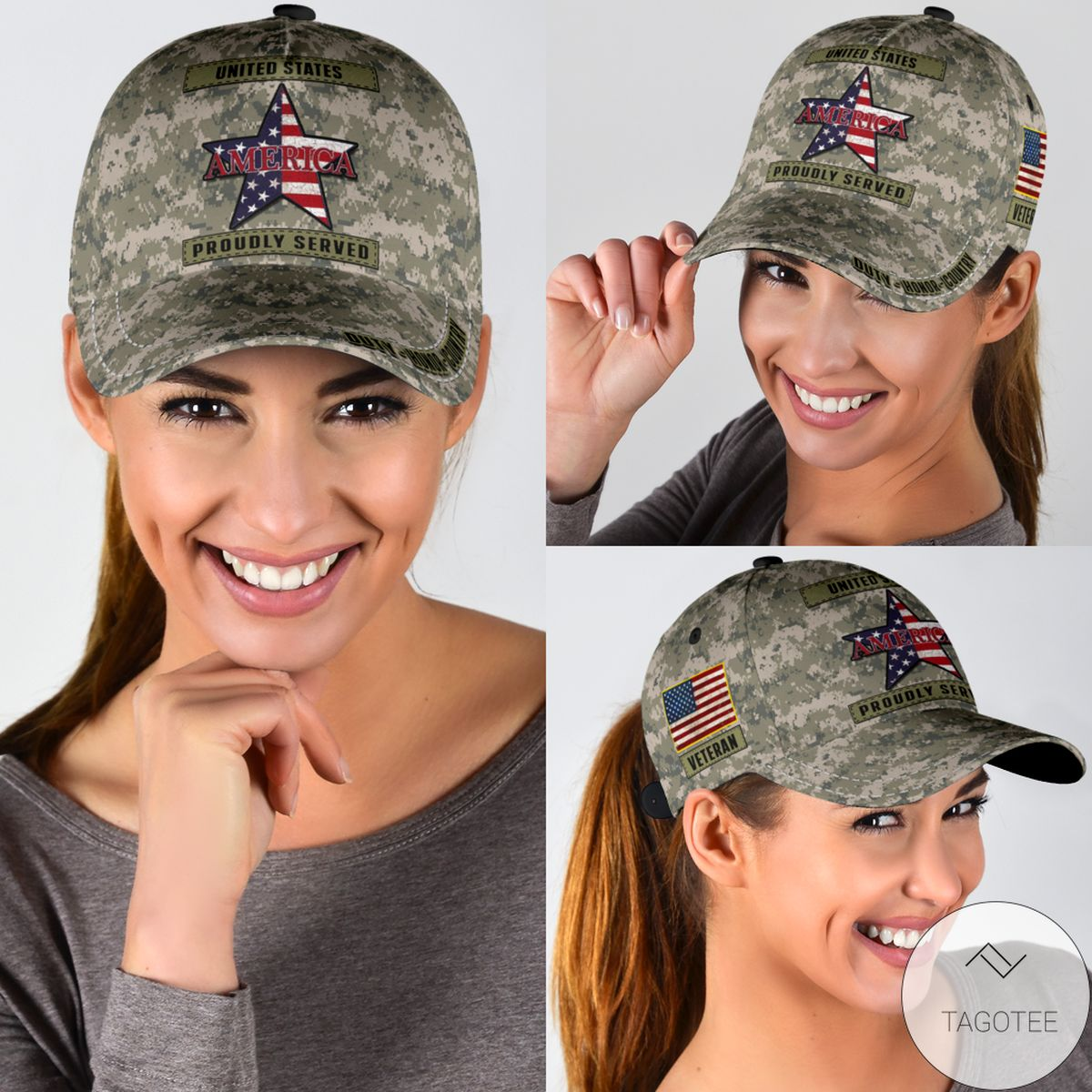 Us Proudly Served Cap