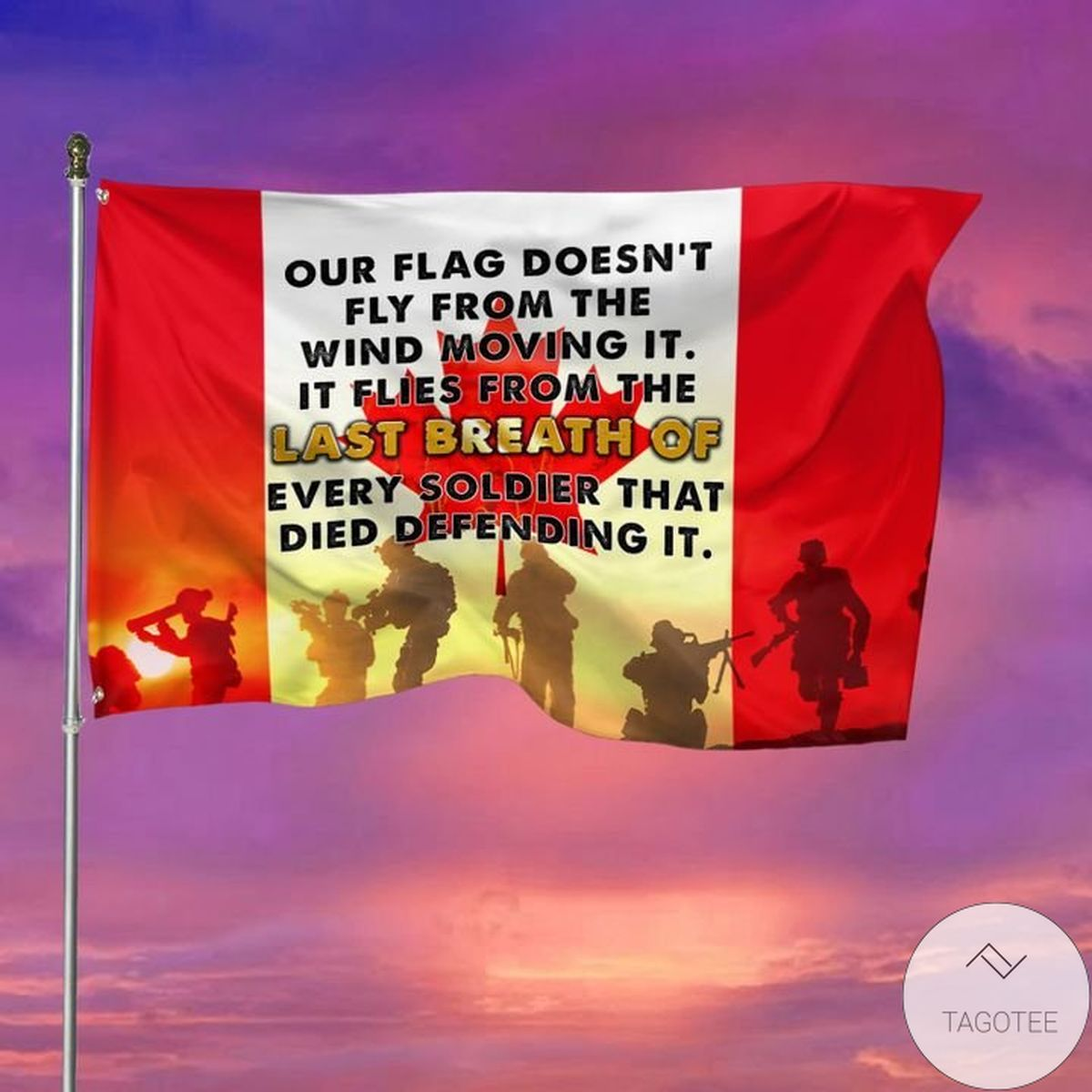 Veteran's Day Our Flag Doesn't Fly From The Wind Moving It Garden Flag