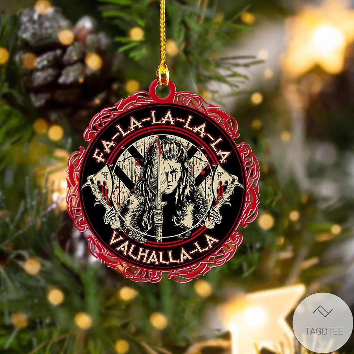 Wonderful Viking Shieldmaiden Black And Red Ornament