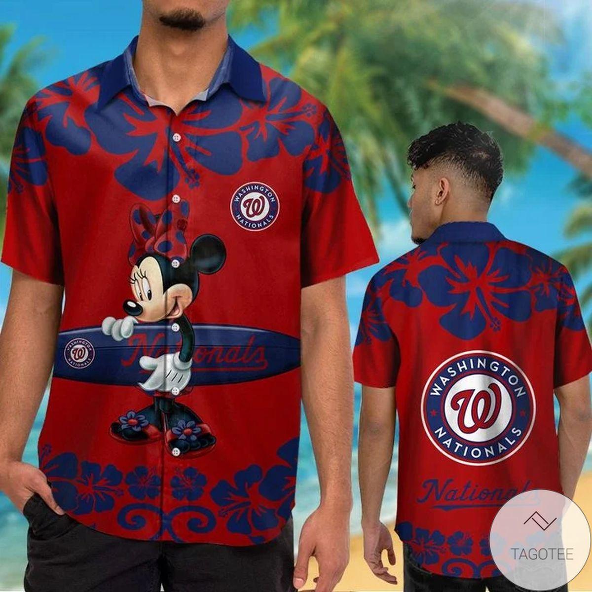 Washington Nationals Minnie Mouse Hawaiian Shirt