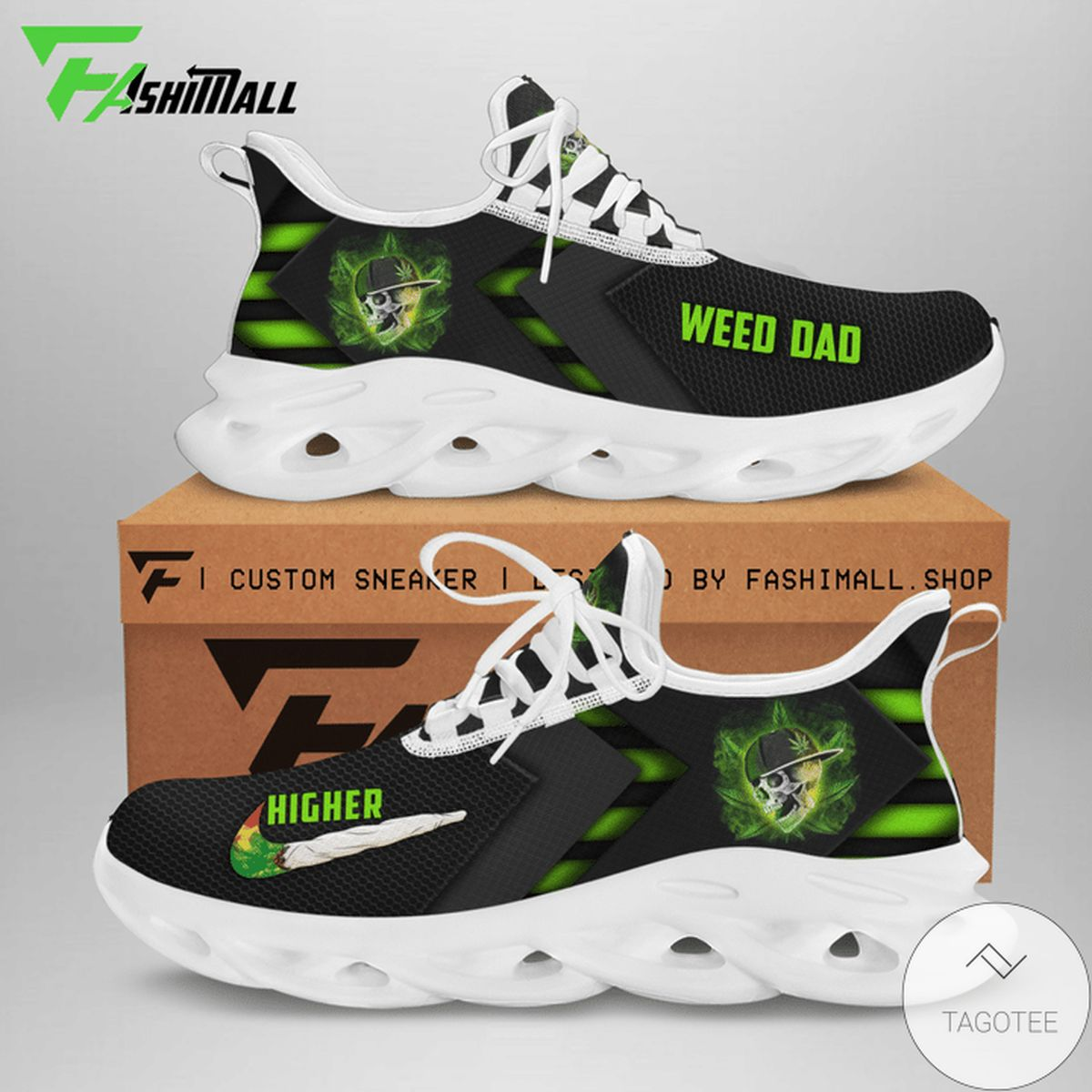 Great artwork! We Dad Cannabist Skull Max Soul Shoes