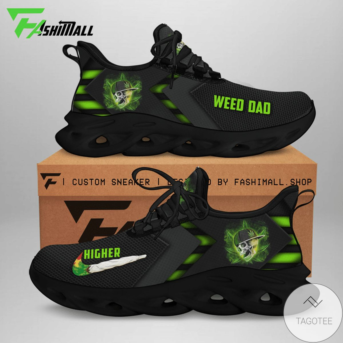 We Dad Cannabist Skull Max Soul Shoes