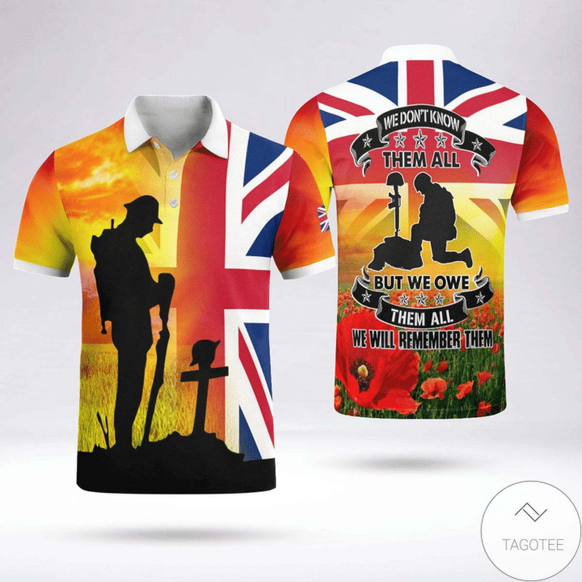 We Don't Know Them All But We Owe Them All Uk Veteran Polo Shirt