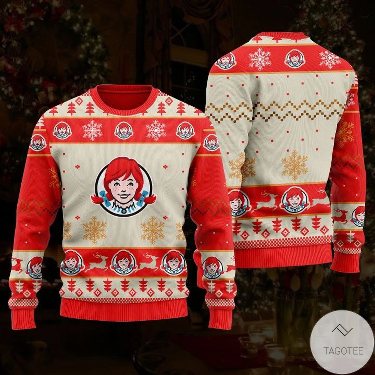 Sale Off Wendy's Ugly Christmas Sweater