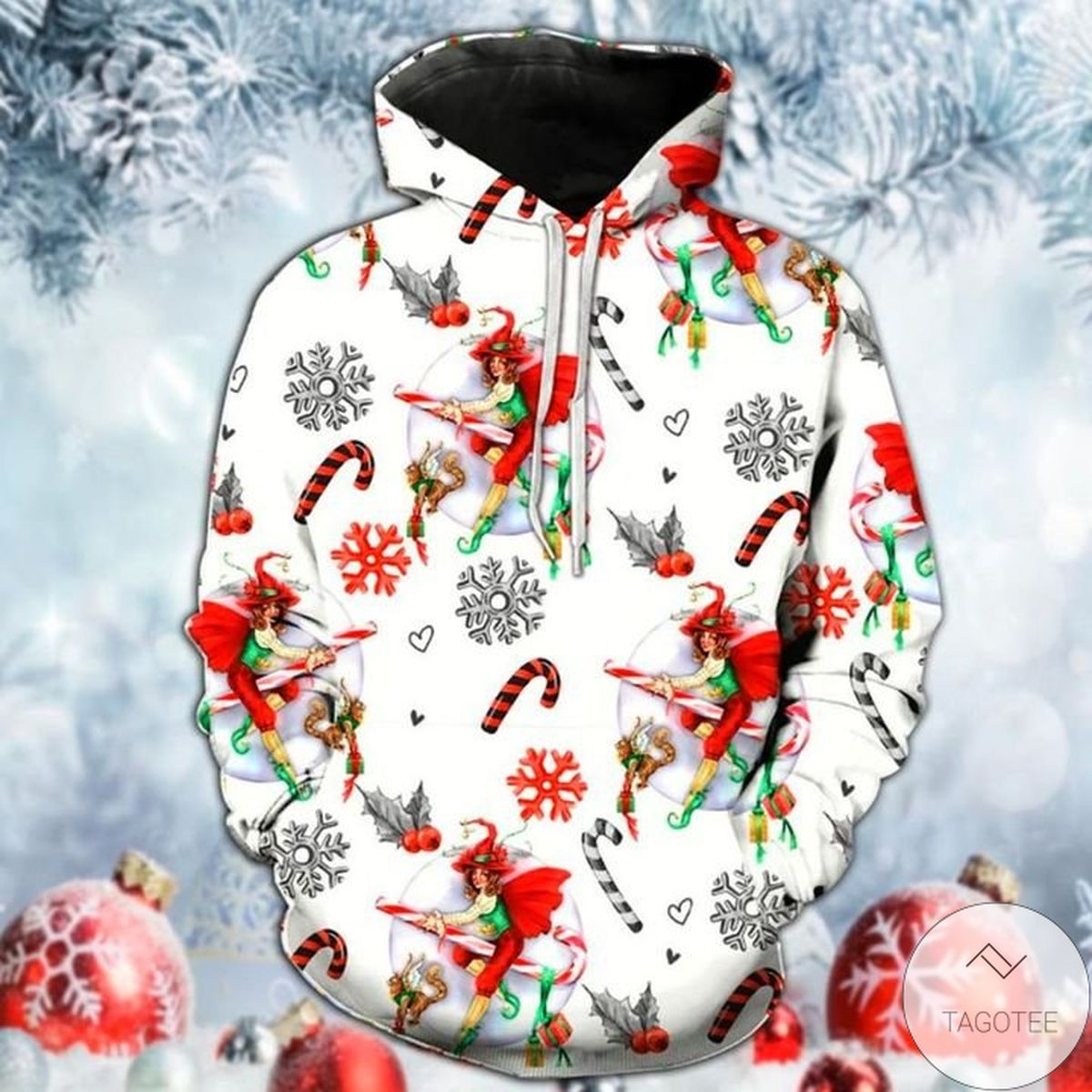 Witch Christmas 3d Hoodie