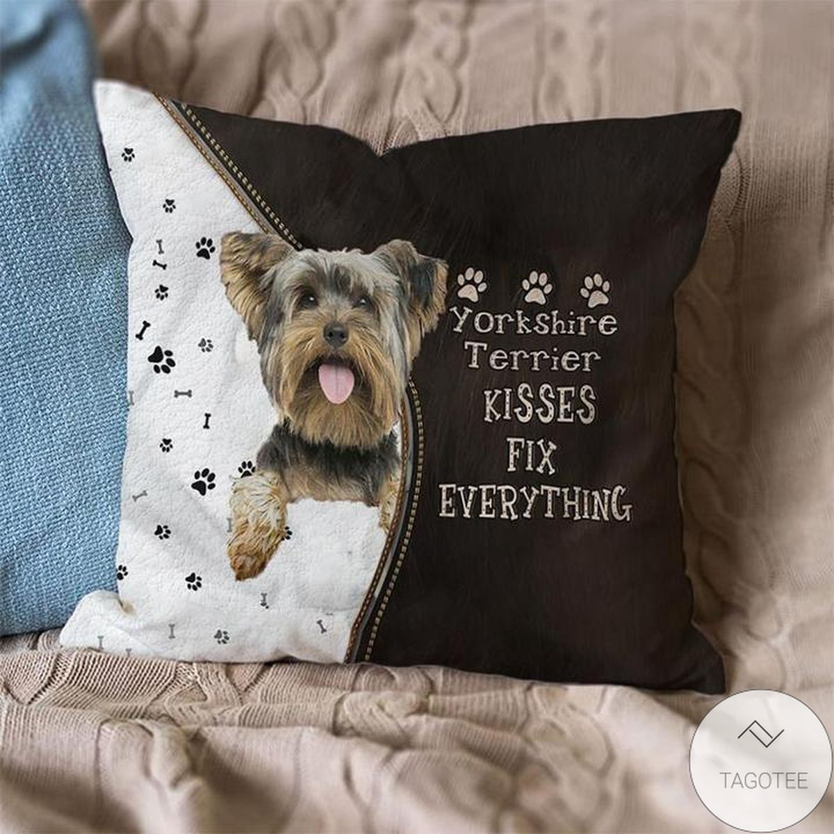 Perfect Yorkshire Terrier Kisses Fix Everything Pillowcase